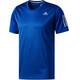 adidas Response Koszulka do biegania z krótkim rękawem Mężczyźni niebieski